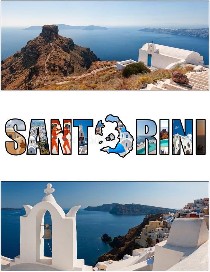 Förhållande 06 för Santorini bokstavsask royaltyfri foto
