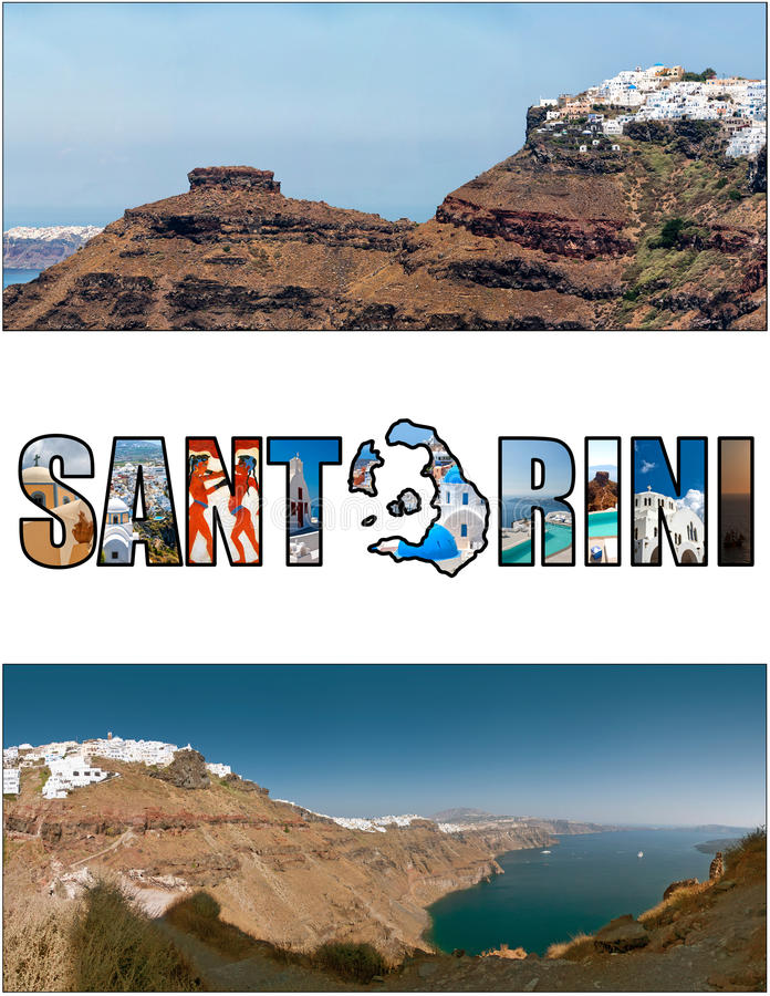 Förhållande 11 för Santorini bokstavsask arkivbild