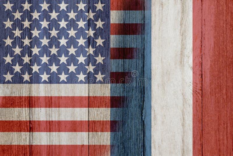 Förhållande mellan USA och Frankrike arkivfoton