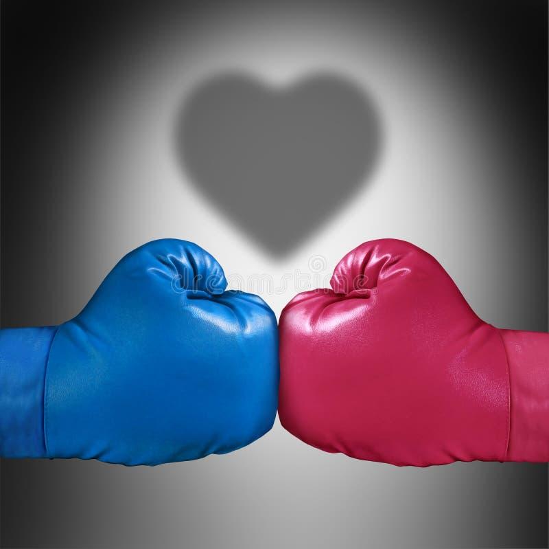 Förhållandekampbegrepp stock illustrationer