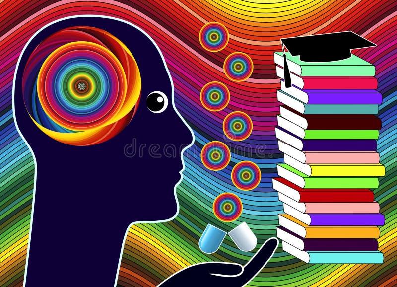 Förhöjande droger för kognition vektor illustrationer