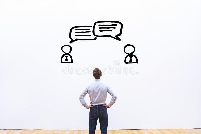 Förhandling-, dialog- eller tvistbegrepp arkivbild