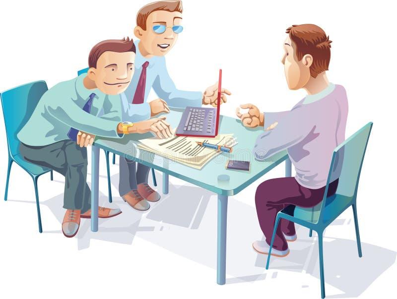 Förhandlingar stock illustrationer