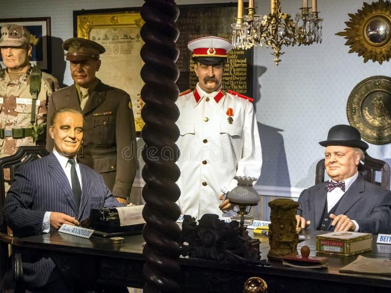 Förhandlingstatsmän USA, Förenade kungariket, USSR-värld krig II arkivfoto