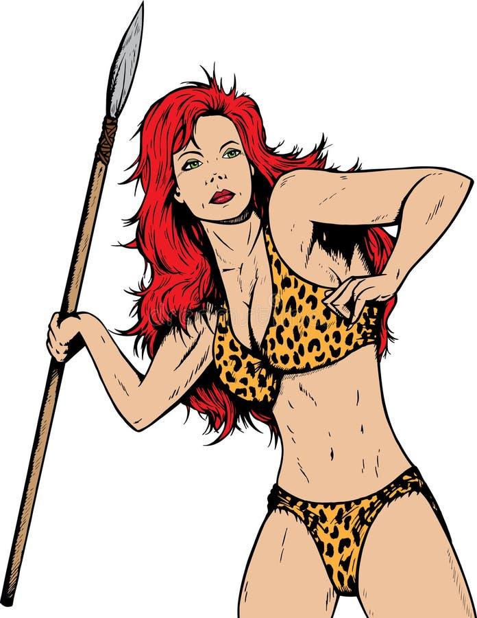 förhistorisk gal.-djungel royaltyfri illustrationer