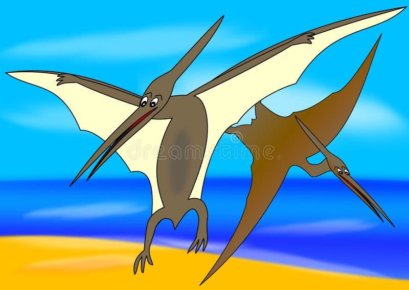 förhistorisk pteranodon för fågel vektor illustrationer