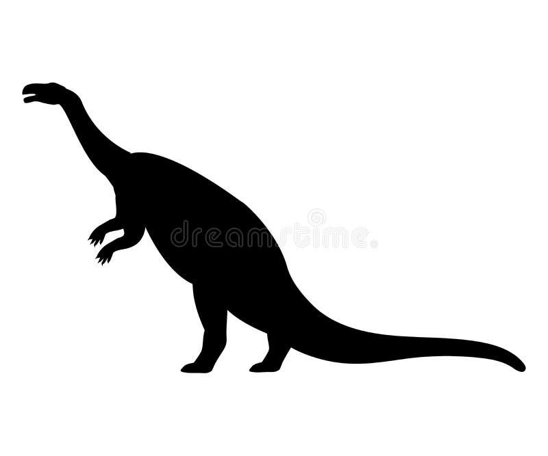 Förhistoriskt djur för Plateosauruskonturdinosaurie royaltyfri illustrationer