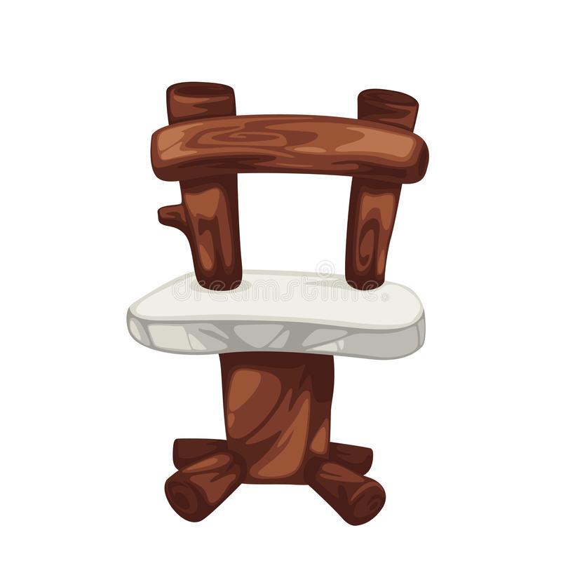 förhistoriskt trä för stol vektor illustrationer