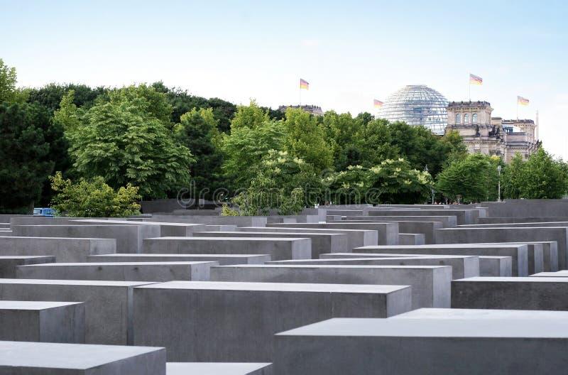 Förintelseminnesmärke i Berlin royaltyfri fotografi