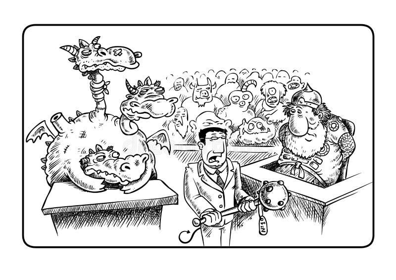 förkämpejäkel s stock illustrationer