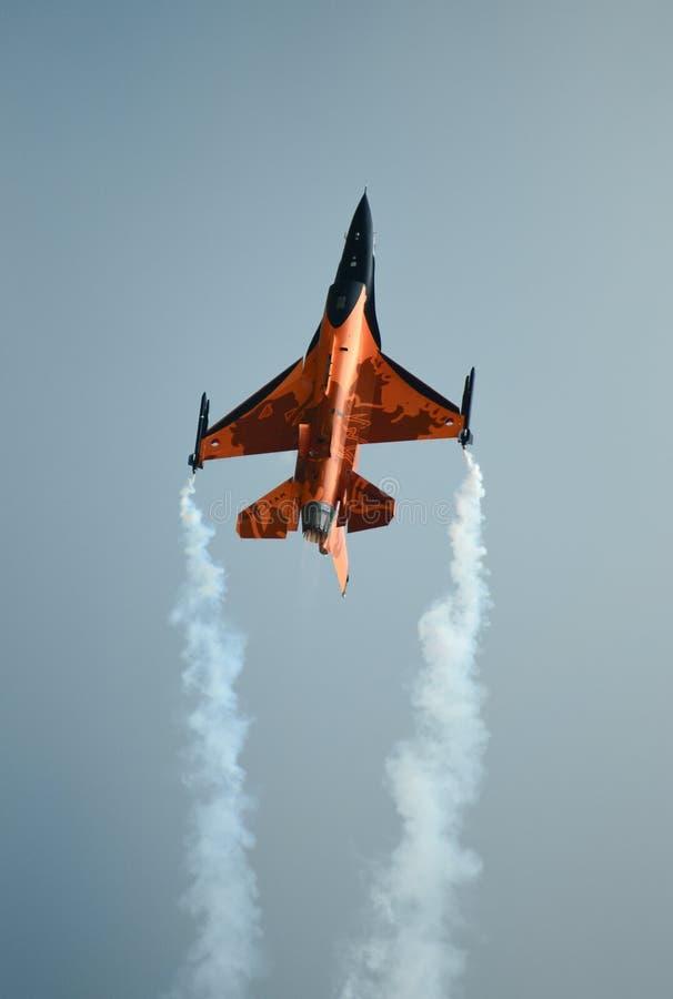 Förkläde för F16 Oange royaltyfri fotografi