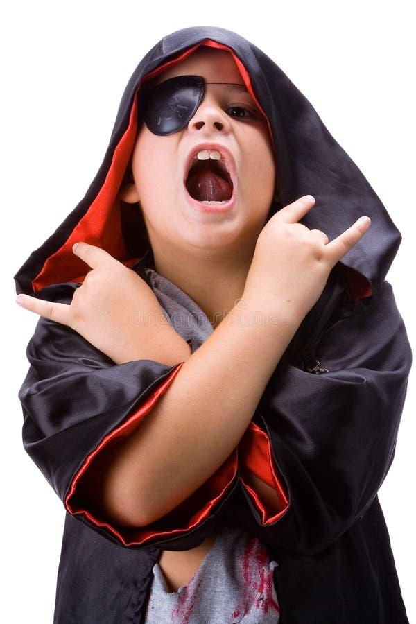 förklädnad dracula för 2 pojke arkivfoto