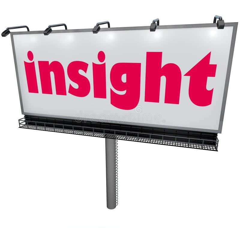 Förklarad vishet för analys för information om inblickordaffischtavla vektor illustrationer