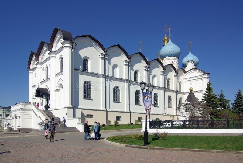 Förklaringdomkyrkan av den Kazan Kreml arkivbilder
