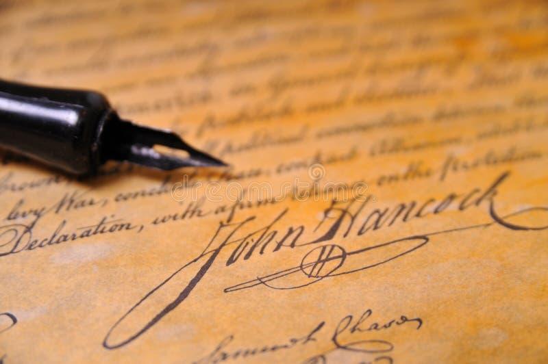 förklaringsjälvständighet arkivbild