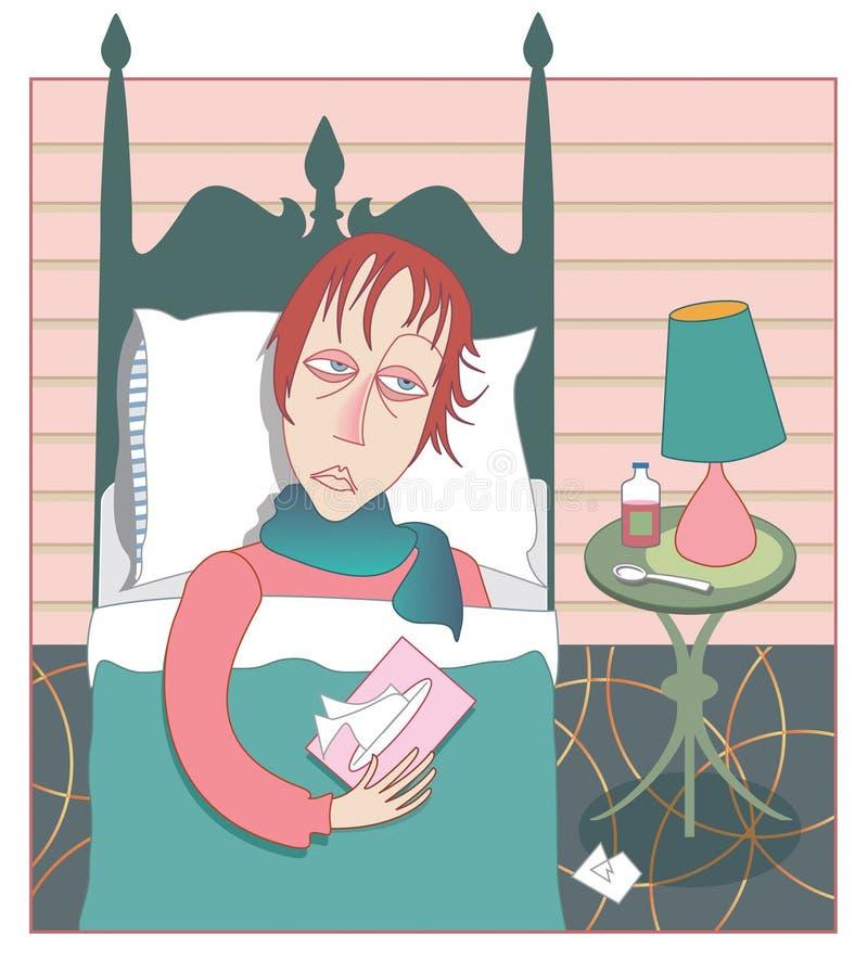 förkylninginfluensasäsong royaltyfri illustrationer