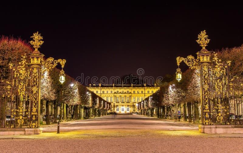 Förlägga de la Carriere, UNESCOarvplats i Nancy royaltyfri fotografi