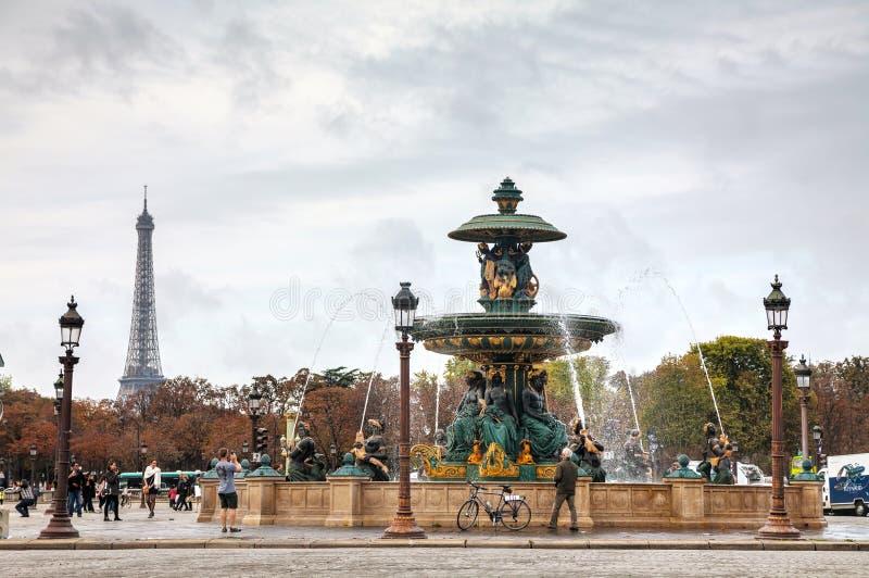 Förlägga de la Concorde i Paris, Frankrike fotografering för bildbyråer