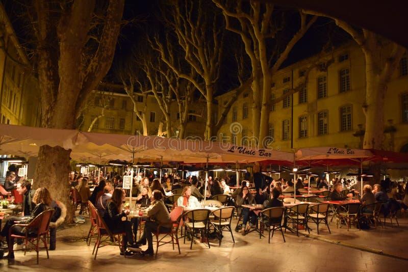 Förlägga Richelme, Aix-en-provence, Bouches du Rhone, Frankrike royaltyfria bilder