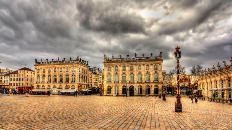 Förlägga Stanislas, en UNESCOarvplats i Nancy royaltyfri bild