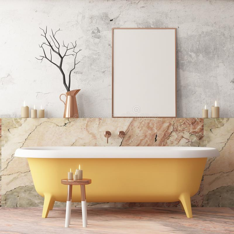 Förlöjliga upp affischen i badrummet i en modern stil vektor illustrationer
