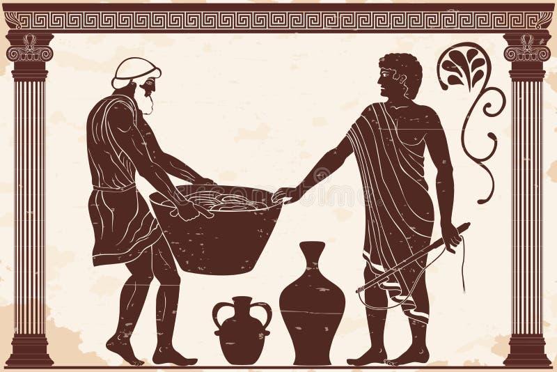 förlaga slav royaltyfri illustrationer