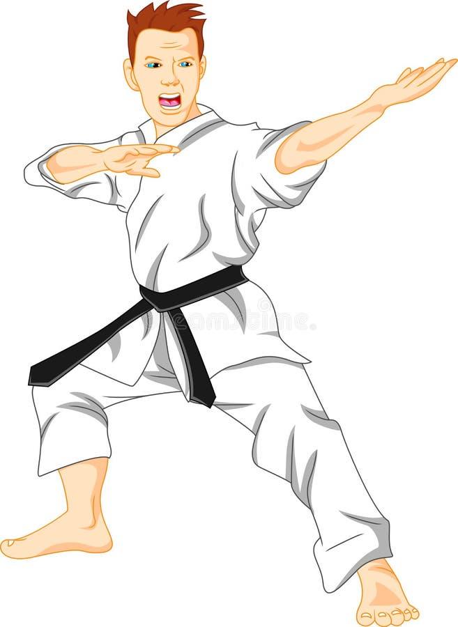 Förlage av karate (kampsport) royaltyfri illustrationer