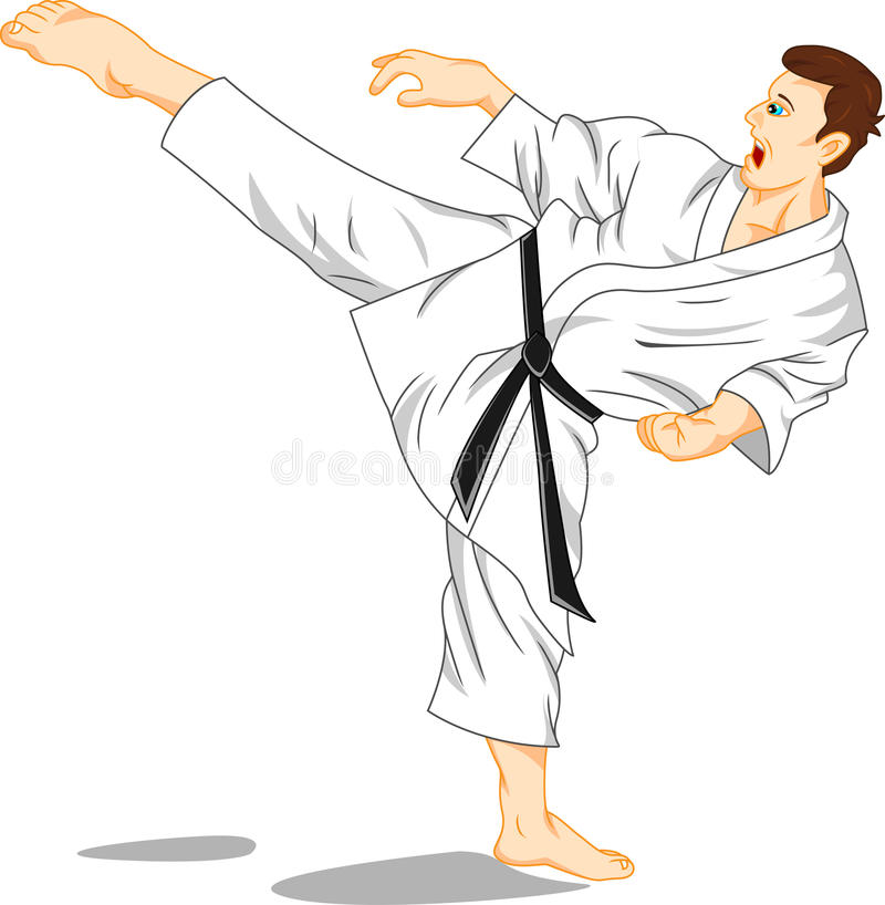 Förlage av karate (kampsport) stock illustrationer