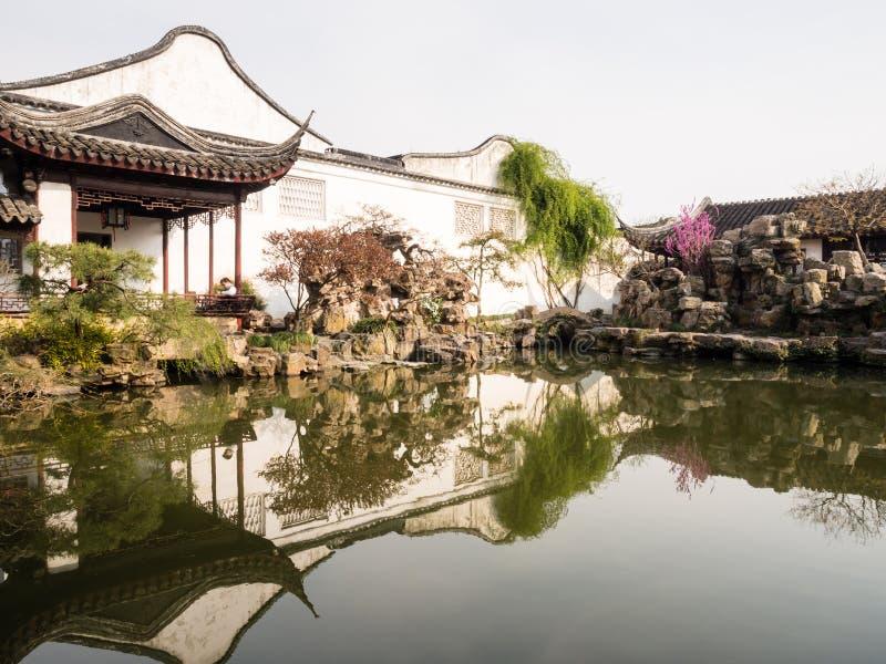Förlagen av förtjänar trädgården i Suzhou, Kina arkivfoto