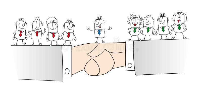 förlikning royaltyfri illustrationer