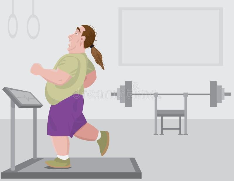 Förlora vikt vektor illustrationer