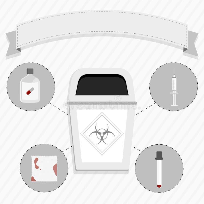 Förlorad läkarundersökning royaltyfri illustrationer