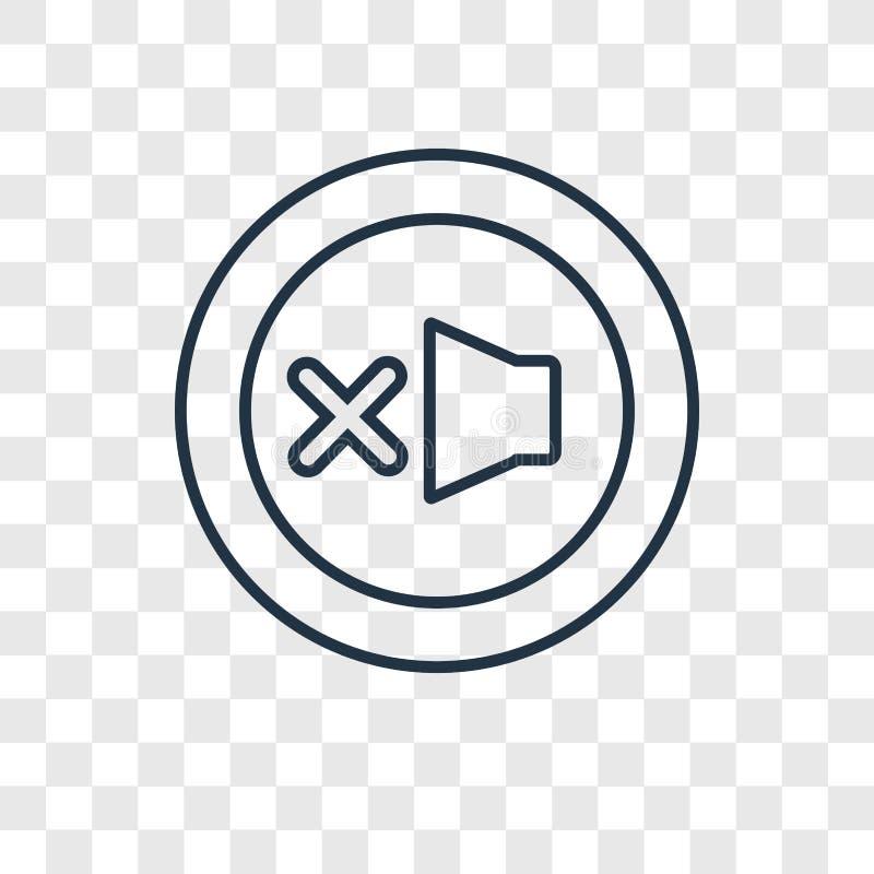 Förlorad linjär symbol för objektbegreppsvektor som isoleras på genomskinliga lodisar stock illustrationer