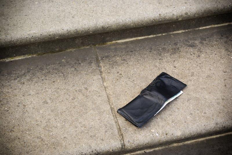 förlorad plånbok fotografering för bildbyråer