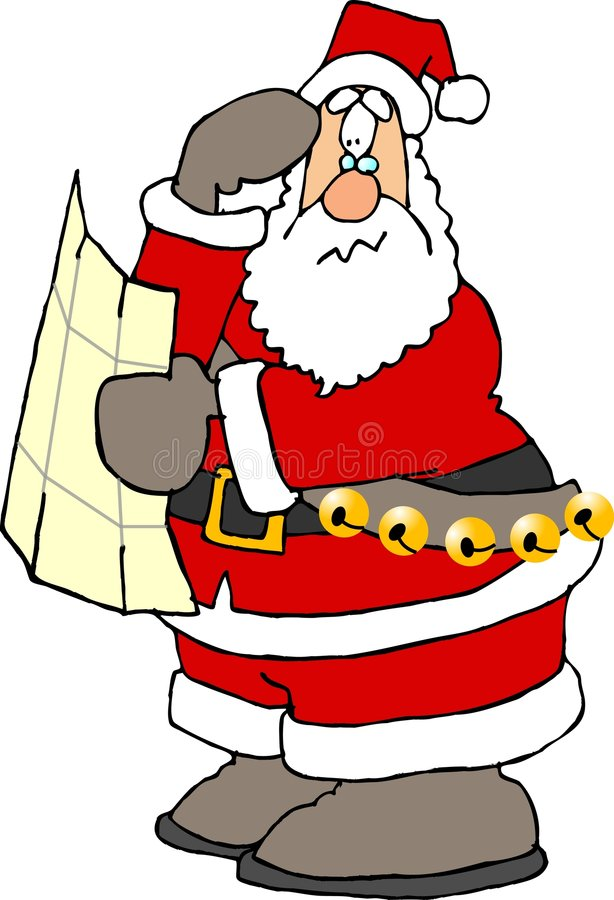 förlorade santa stock illustrationer