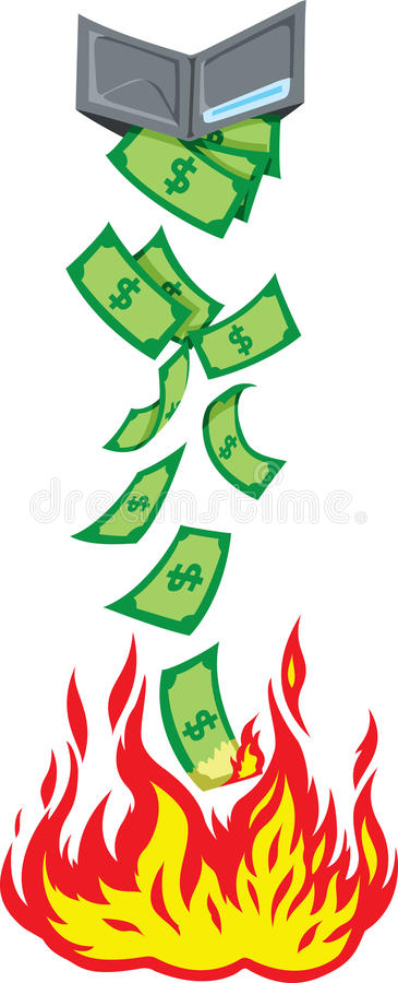 Förlorande pengar stock illustrationer