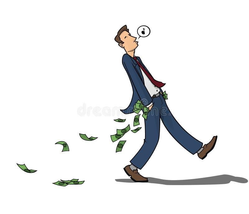 förlorande pengar royaltyfri illustrationer
