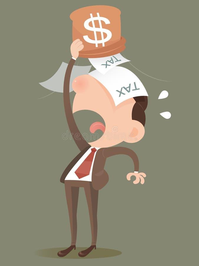 Förlorande pengar från en påse stock illustrationer