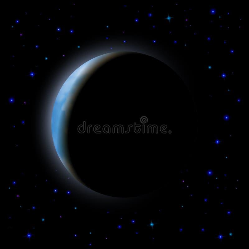 förmörka moonen royaltyfri illustrationer