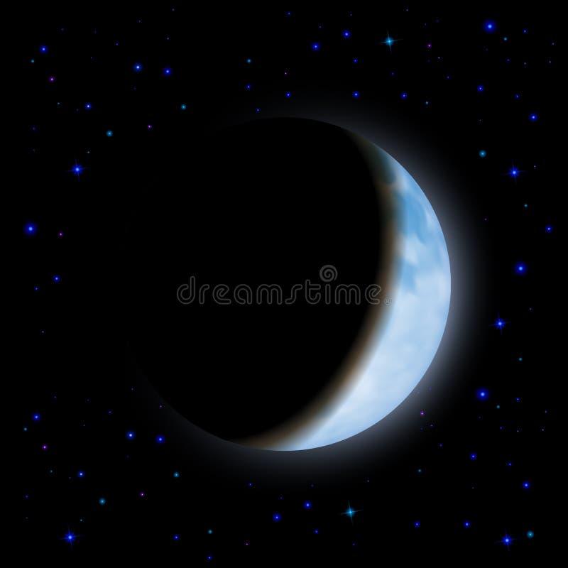 förmörka moonen stock illustrationer