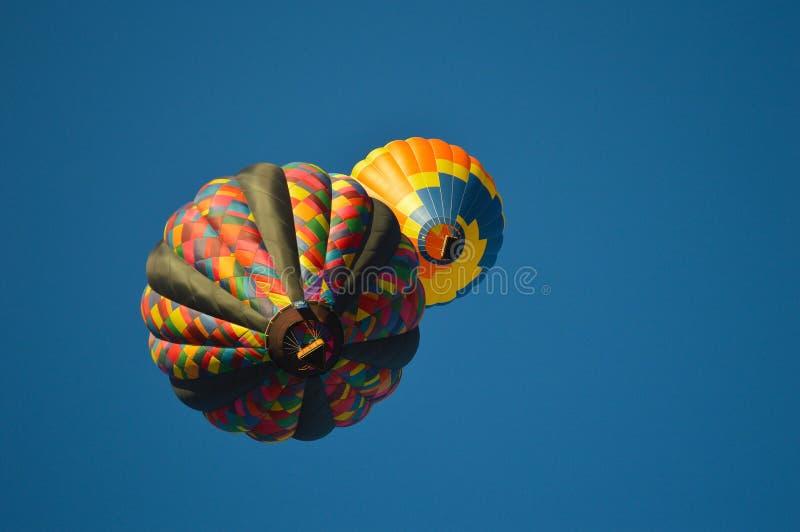 Förmörkelse för ballong för varm luft arkivfoto