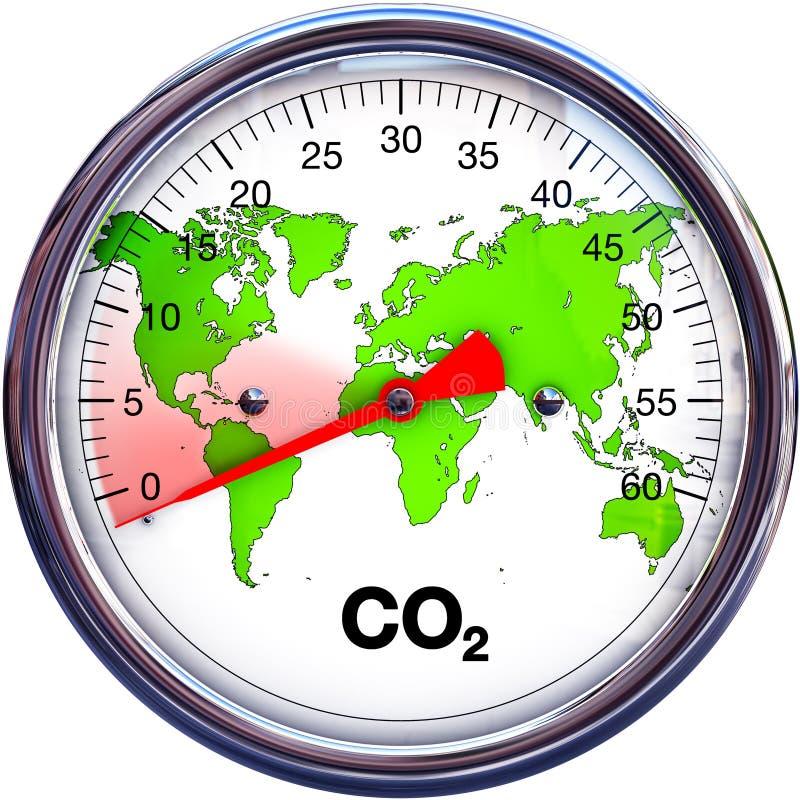 Förminska CO2 royaltyfri illustrationer