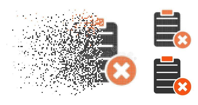 Förmultnad för utskottsvaraform för PIXEL rastrerad symbol vektor illustrationer