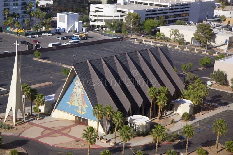 Förmyndare Angel Cathedral i Las Vegas fotografering för bildbyråer