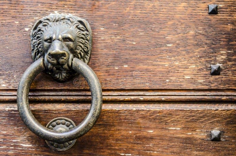 Förmyndarelejon av min dörr fotografering för bildbyråer