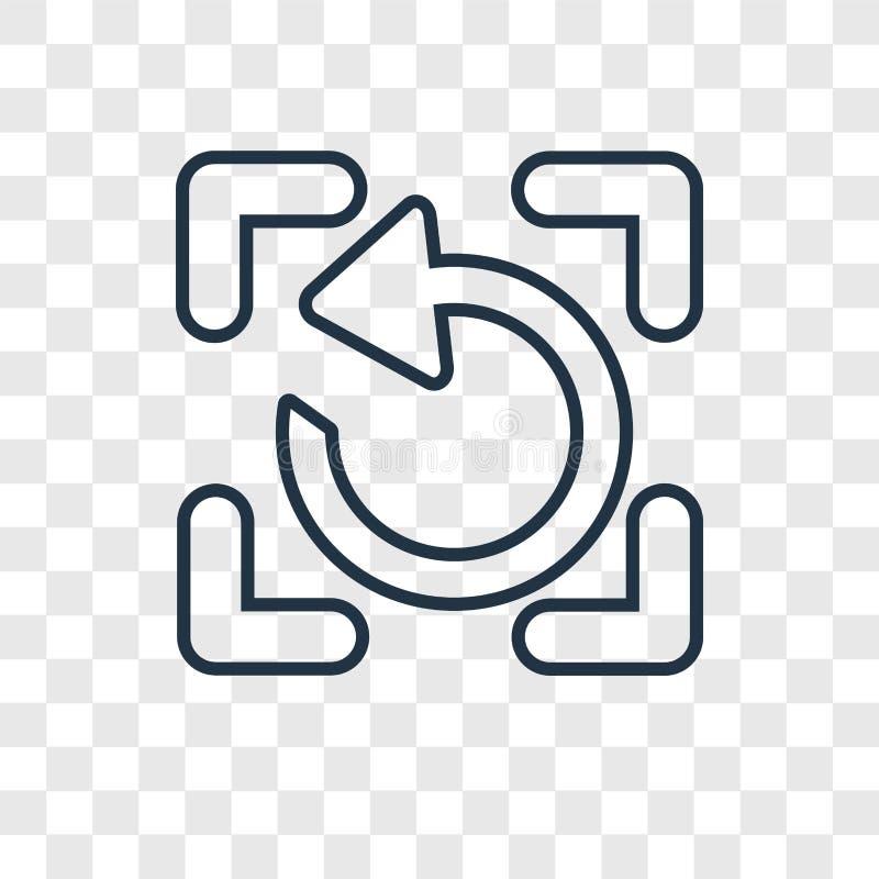 Förnya den linjära symbolen för begreppsvektorn som isoleras på genomskinlig backg vektor illustrationer
