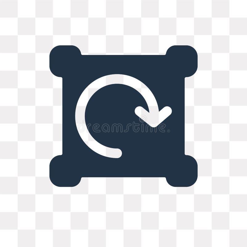 Förnya vektorsymbolen som isoleras på genomskinlig bakgrund, förnya vektor illustrationer