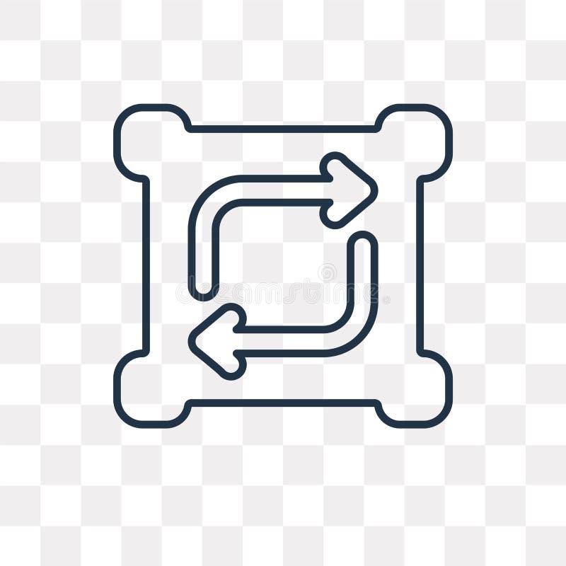 Förnya vektorsymbolen som isoleras på genomskinlig bakgrund, linjärt R vektor illustrationer