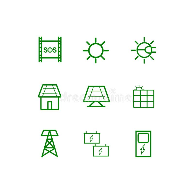Förnyandeenergi av solen Vektor i CMYK-funktionsl?ge vektor illustrationer
