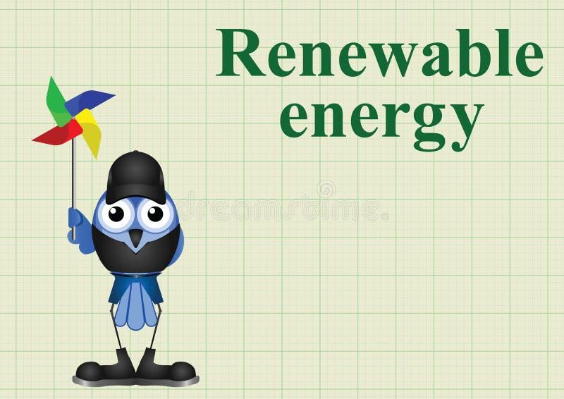 förnybar energi stock illustrationer